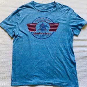 Budweiser blue cotton t-shirt